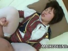 Mayu Nakane: Sweet Charming Japanese Teen First Time Sex