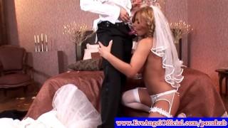 Lesbian bride Dorothy Black Teasing tribbing