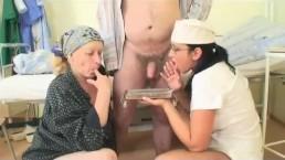 Grandpapa is fucked by hot nurse