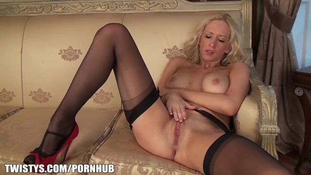 Pantyhose heels stockings Sam is so horny in her nylons and heels
