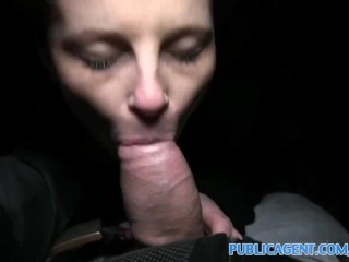 PublicAgent Big cock fucking through a hole in her nylon pantyhoes