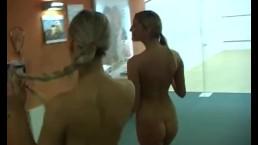 Gym lesbians dildo twats