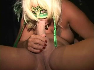 Blonde BBW MILF sucks dick Has real finger fuck orgasm
