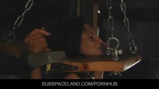 Voluptuous brunette Betina DiCapri used and played Bondage while