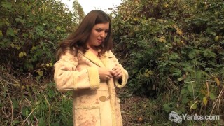Preview 1 of Lovely Amateur Amber Masturbates Outdoors