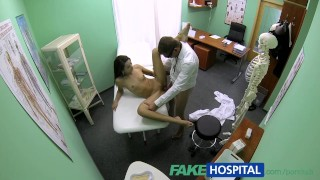 Fakehospital slim cums up natural young for check student boobs spy