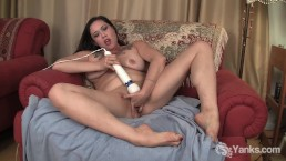 MILF Eden Pleases her Pussy with Vibrator