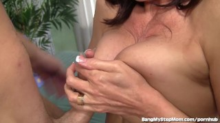 Milf for young insatiable goes dick crazy tit big
