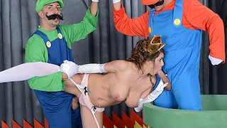 Mario and luigi parody double stuff Brazzers