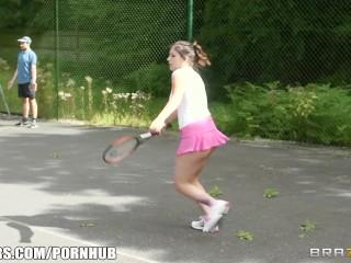Tenis threesome, everyone wins - brazzers