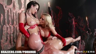 Best Hell ever, latex love - Brazzers  hidden brazzers 7743 big tits ass raven leash femdom blowjob big dick kinky babes latex deepthroat ukrainian choke mff fake tits massage brazzers.com oil girlongirl