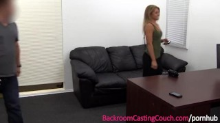 Fit Babe Luvs The Anal on Casting Couch Sucking amateur