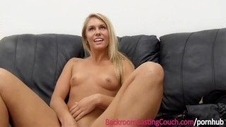 Casting fit on luvs anal the babe couch blonde fucking