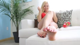 Foot JOI Tits solo