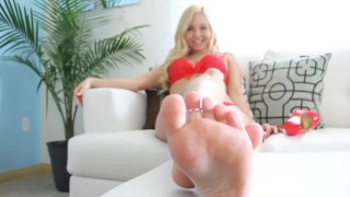 Joi foot tenager joi