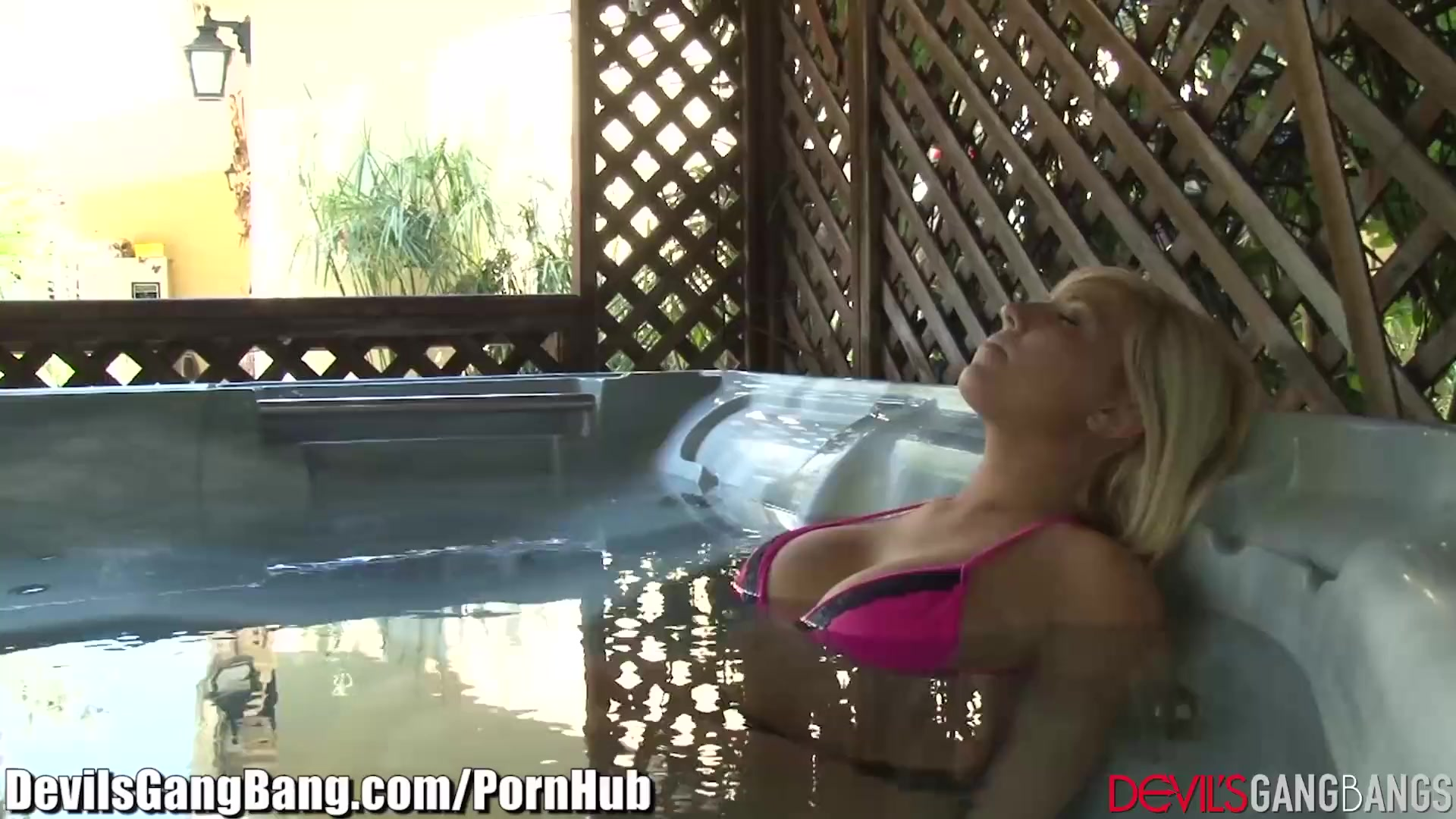 Blonde Teen Gangbanged In Hot Tub