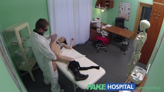 FakeHospital Spy on pretty teen slowly seduced and takes creampie