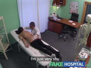 Semi Amateur FakeHospital Young woman with killer body caught on camera getting fucked