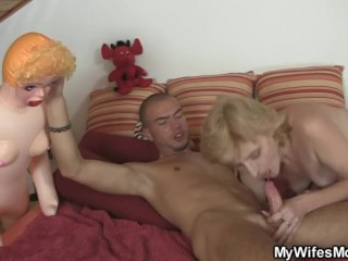 She helps her son-in-law cum and gets busted