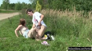 Preview 5 of Busty teen Charlotte gets nailed outdoor