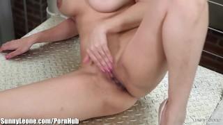 The sunnyleone floor on is masturbating masturbating tits