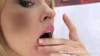 Getting before down throat forcing her fucked hand throat kinky blonde