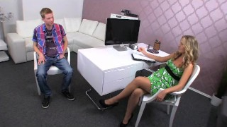 Preview 2 of FemaleAgent. Skinny stud meets experienced MILF agent