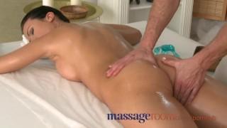 Massage Rooms Athletic goddess enjoys G spot orgasm before riding big cock