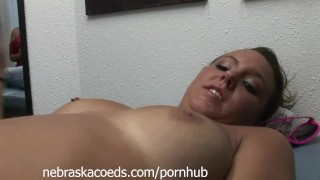 Extremely Hot Tanned Teen Getting Nipples Pierced