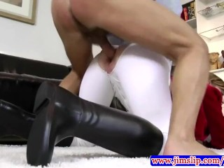 Teen young amateur wearing stockings showing ass off