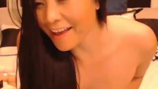 Black shiny pantyose mother son masturbation