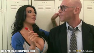 Locker threesome room brazzers tattoo blowjob