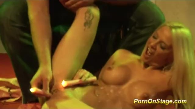 Anna nicole smith sexy movie Crazy nfcm show on public stage with sexy blonde babe