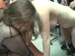 Brutal gangbang 5 cocks whore