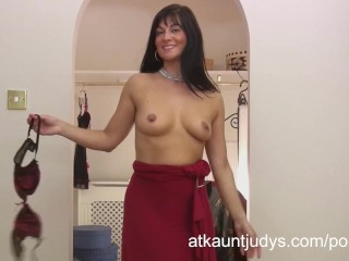 Russian mature fucking in the kitchen