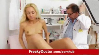 Petite blonde babe Victoria Puppy pussy pump therapy Petite nice