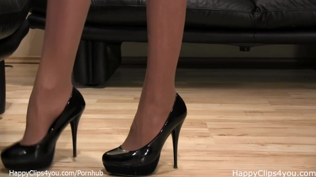 Black clip milf - Mistress anique black high heels shoe steps