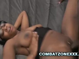 Amber Star - Four Eyed Black Teen Fucked By An Old Black Cock