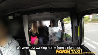 FakeTaxi Hot sexy taxi foursome gang bang Titfuck blowjob