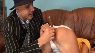 young cute chick gets a baseball bat in her asshole Asian barely