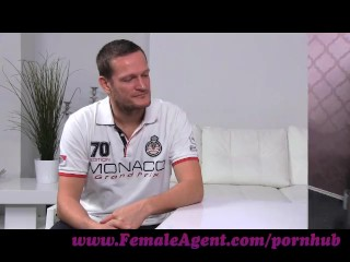 Preview 2 of FemaleAgent. Big cock delivers creampie present after casting fuck frenzy