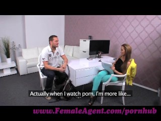 Preview 3 of FemaleAgent. Big cock delivers creampie present after casting fuck frenzy