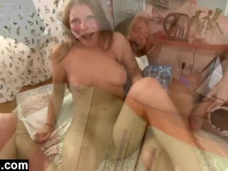 Twisty Nudes Francheska Likes It Rough Compilation, Anal Threesome Rough Sex