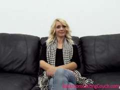 Tight Blonde Teen Anal & Creampie on Casting Couch