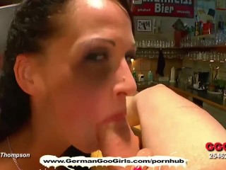 Brunette babe Aymie is the cock inspector