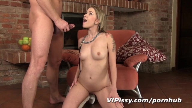 Girl gets pee in ass Good girls get rewarded with fresh piss