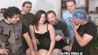 Perfect Pussy Hottie Cum Coated GangBang