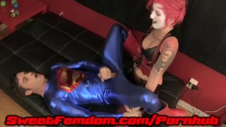 Harley Fucks Superman  pegging strapon cosplay femdom female-domination superhero kink kinky harley-quinn anal sweetfemdom superman supervillainess