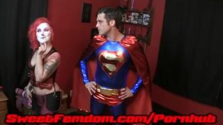 Harley Fucks Superman  pegging strapon cosplay femdom superhero kink kinky anal sweetfemdom harley quinn female domination superman supervillainess