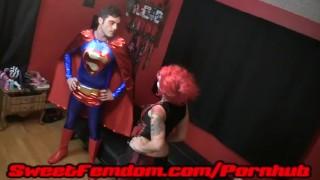 Harley Fucks Superman  pegging strapon cosplay femdom superhero kink kinky anal sweetfemdom female domination superman supervillainess harley quinn